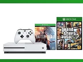 Xbox One S 500 GB Battlefield 1 Console + Grand Theft Auto V + WWE 2K16 Bundle ( 3 - Items )
