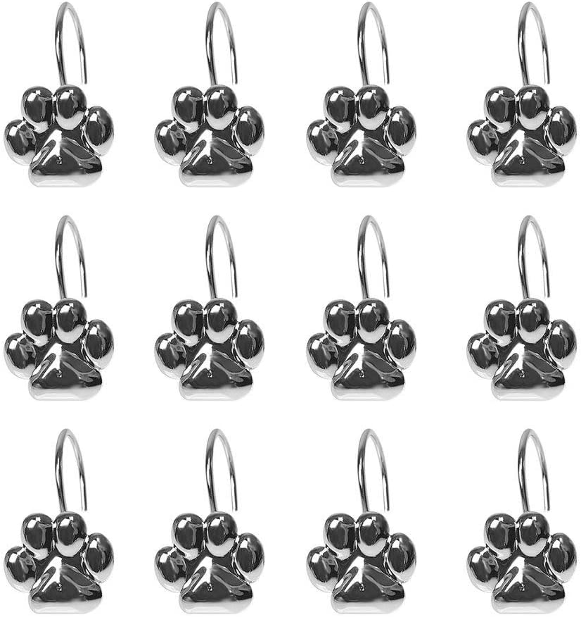 Myonly Shower Curtain Hooks Decorative Pcs Metal St Stainless New Max 53% OFF products world's highest quality popular 12