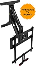 Mount-It! Fireplace TV Mount, Full Motion Pull Down Mantel TV Mounting Bracket with Height Adjustment, Fits 40-65 Inch TVs, 70 lbs Capacity