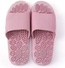Acupressure Massage Slippers Therapeutic Reflexology Sandals for Foot Acupoint Massage Shiatsu Arch Pain Relief Non-Slip Massage Shoes for Bath Shower (Pink)