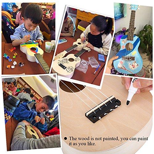 Ukulele DIY Kit, 21 Zoll Machen Sie Ihre Eigene Ukulele Hawaii Ukulele Kit mit Installationswerkzeug für Weihnachtsgeschenk Kids Musical Toy