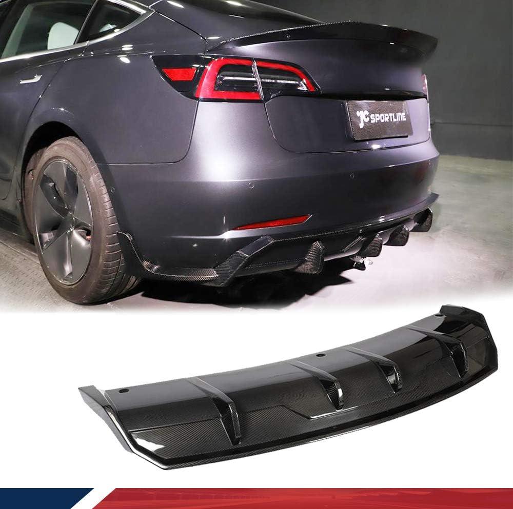 JC SPORTLINE Limited time trial price Rear Popular standard Diffuser Fits for 2016-202 Model Tesla 3 Sedan