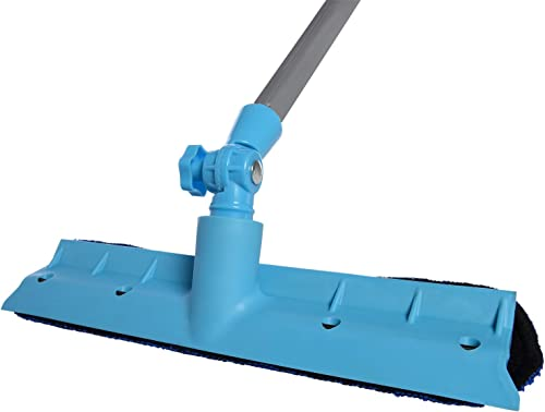 wholesale Ivation High Window Cleaning Tool discount new arrival - Window Cleaner washer & Squeegee Wiper with Micro-fiber Cloth, Extendable Rod Up To 5 Ft. for Windows, Shower Glass, Car,Light Blue outlet online sale