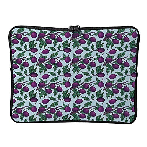 C COABALLA Sleeve Tablet Protective Bag Vegan, Pattern of Plum Branches with Ripe Custom Tablet Sleeve Bag Case AM032580 10 inch/10.1 inch