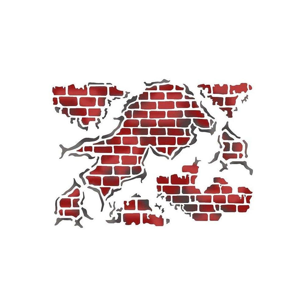 Stamperia Stencil D cm. 20x15 Wall glimpse