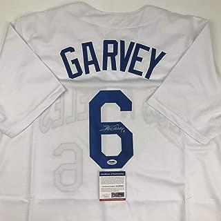 Autographed/Signed Steve Garvey Los Angeles LA White Baseball Jersey PSA/DNA COA