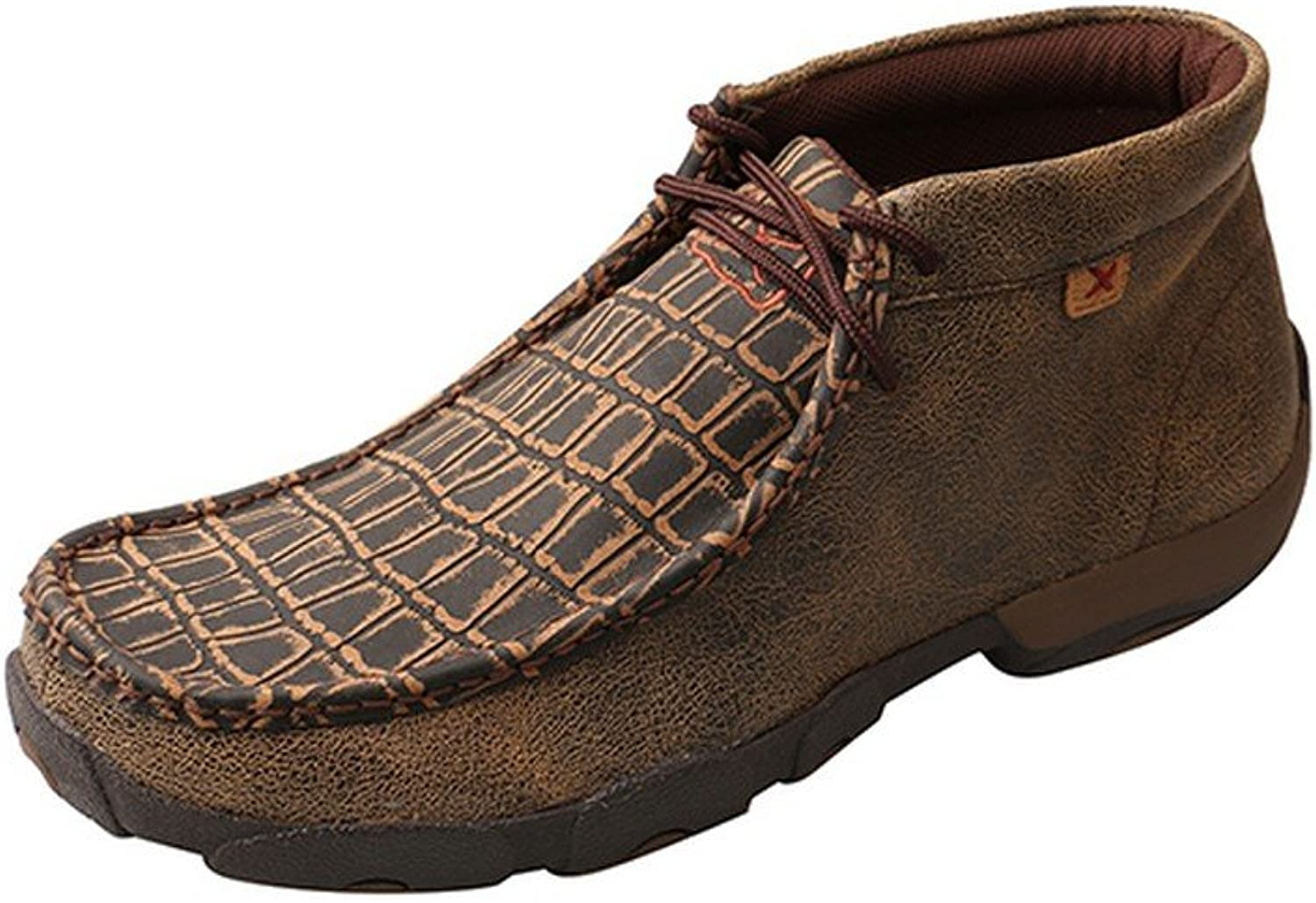 Twisted X Boots Mens Caimin Print Driving Moc with Alloy Toe