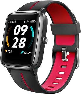 UMIDIGI Smartwatch Uwatch3 GPS, 1,3-inch Waterdicht Touchscreen en Ingebouwde GPS Sporthorloge, Fitnesstracker met Slaapmo...