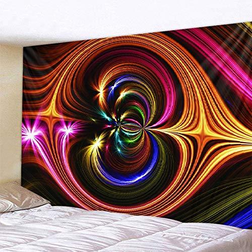 KHKJ Universo Estrellado Espacio Aurora Tapiz Dormitorio Decoración de Pared Paño de Pared Impreso Exclusivo A19 150x130cm