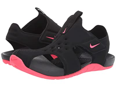 Nike Kids Sunray Protect 2 (Little Kid) (Black/Racer Pink) Girls Shoes