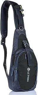 Sling Bag Chest Shoulder Unbalance Gym Fanny Backpack Sack Satchel Outdoor Bike Nylon Fabric Orange