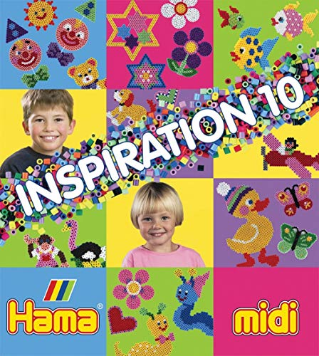 Hama Perlen 399-10 Inspiration Heft Nr. 10 Vorlagenbuch mit farbenfrohen Ideen, Motiven und Anleitungen zum Basteln mit Bügelperlen, kreativer Bastelspaß für Groß und Klein