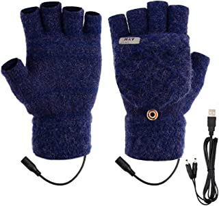 Unisex USB Heated Gloves, DreamCatching Laptop Gloves Women Men Winter Full & Half..