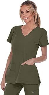 Grey's Anatomy Signature V-Neck Mock Wrap Top for Women - Medical Scrub Top