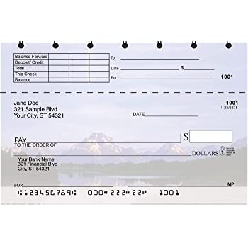 Mountain Views Top Stub Personal Checks