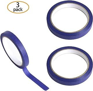 Hapy Shop 3 Pcs Blue Tape Removable Marking Masking Tape 1/2 Inch x 22 Yards,Painters Tape Trim Edge Finishing Decorative Total 66 Yards