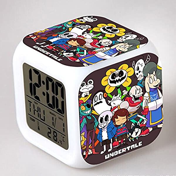Enjoy Life Cute Digital Multifunctional Alarm Clock Glowing Led Lights Undertale Sticker Good Gift Your Kids Comes Bonuses Part 1 07