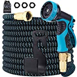 LOOHUU Garden Hose Expandable Kit 100 Feet,Water Hose with Superior Strength 3750D/10 Func...