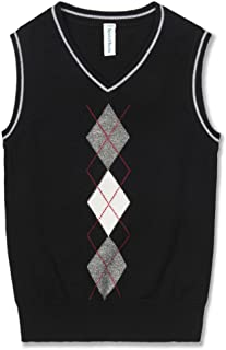 Benito & Benita Boys' Sweater Vest School V-Neck Uniforms Pullover Sweaters with Argyle Patterns for Boys 3-12Y