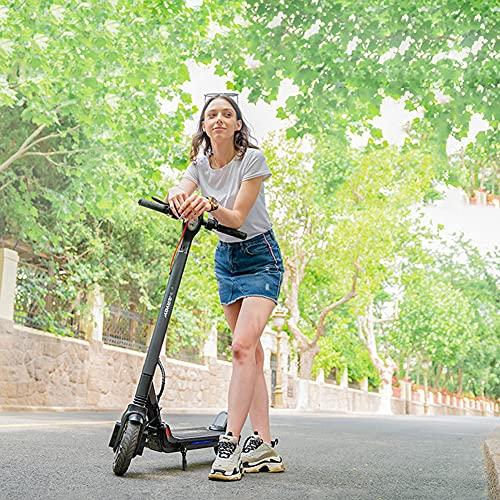 Xiaokang Trottinette électrique avec moteur de 350 W, vitesse maximale de 19 km/h, pneus nid d'abeille de 21,6 cm, batterie de 36 V, 7,5 Ah, longue portée, noir