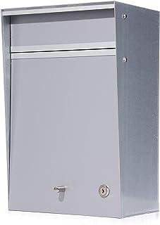 郵便ポスト デザイナーズ A4サイズ対応 (幅26x奥行18x高40cm) [Wall mounted-ウォールマウンテッド-] [MoMA認定品/壁掛け/鍵付き] 全8色 【Box Design 正規品】 シルバー