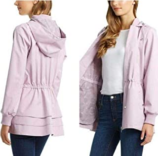 Bernardo Ladies' Jacket with Back Ruffle Hem (M, Lt Pink)