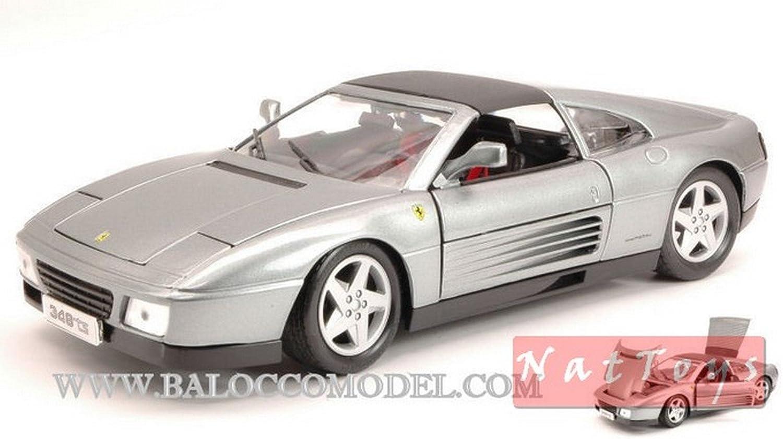 Bburago BURAGO BU16006S Ferrari 348 TS 1989 Silber 1 18 MODELLINO DIE CAST Model B01N7T54WV Moderater Preis  | Ausgezeichnetes Handwerk