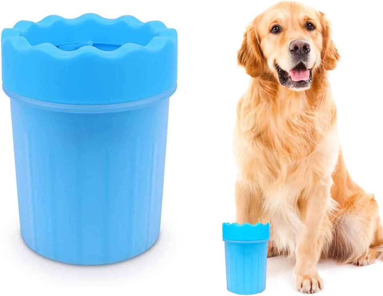 TFHEEY Limpiador para Patas de Perro, Fabricado con Suaves Cerdas de Silicón, Portátil e Ideal para Paseos y Viajes con tu Mascota (L)