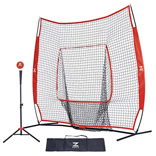 """ZELUS 7x7ft Baseball Softball Practice Net 