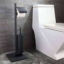 304 roestvrij staal Marble Matte Black Vloerstaande vloeihouder toiletborstel gecombineerde Set badkamer hardware accessoi...