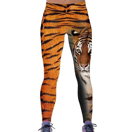 d98c36379 Comeon Women's High Waist Ankle Leggings Slim Fit Skull Angel Wings Print  Skinny Active Gym Yoga