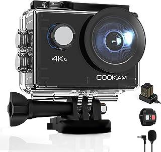 GOOKAM Go 2 Action Cam 4K 20MP onderwatercamera 40M waterdichte camera actiecamera WiFi helmcamera met 2.4G afstandsbedien...