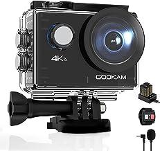 GOOKAM Go 2 Action Cam 4K 20MP Unterwasserkamera 40M Wasserdicht Kamera Actionkamera WiFi Helmkamera mit 2.4G Fernbedienun...