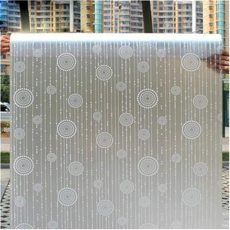 立派な冗長桁ウィンドウプライバシー接着剤ガラスステッカーホームデコレーション混色ベッドルーム用ガラス窓のフィルムワイド45センチメートル*ロング100センチメートルつや消し不透明ガラス窓のフィルム (Color : HQ08)