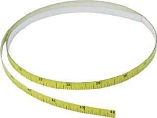 "POWERTEC 71163 Left to Right, Self-Adhering Tape Measure (4' L x 5/16"" W x 1/128"" Thick)"