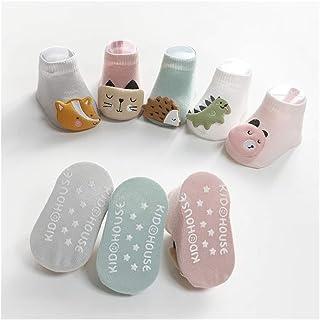 lejia, 1Pairs Calcetines del bebé Animal de la Historieta Antideslizante Calcetines de bebé Calcetines de los niños de Suelo niño Calcetines Niños y Niñas en Barco