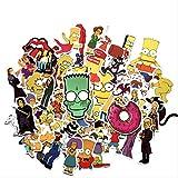 50 Simpsons Simpson Pegatinas De La Maleta De Dibujos Animados Caja De Viaje Nevera Computadora Patineta Pegatinas