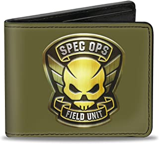 Buckle-Down Men's Wallet Resident Evil/spec Ops Field Unit Badge Black/gold/wh Accessory, -Multi, One Size
