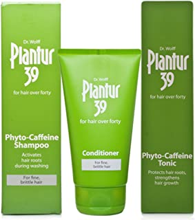 Plantur 39 Caffeine Shampoo 250ml, Conditioner 150ml & Tonic 200ml | Fine & Brittle Hair