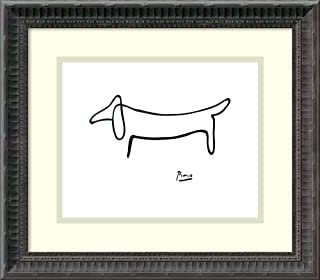 Framed Wall Art Print Le Chien (The Dog) by Pablo Picasso 15.75 x 13.62