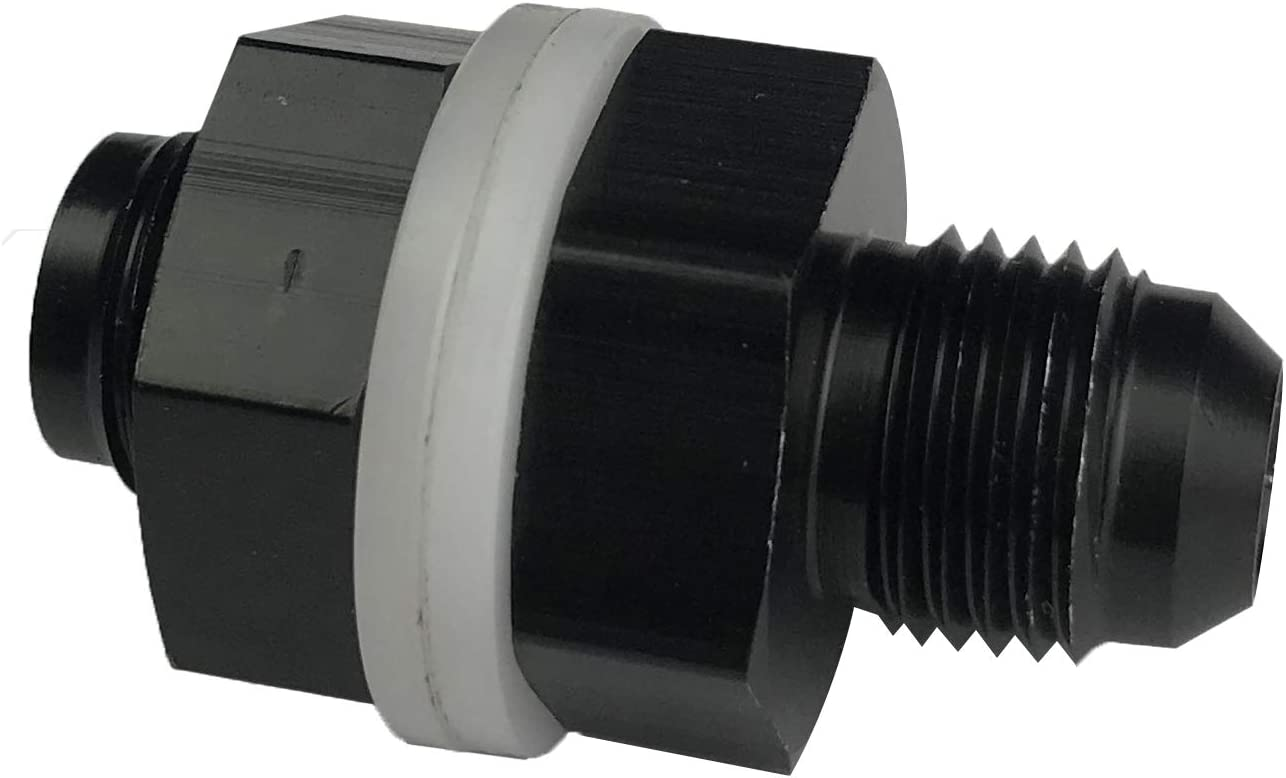 8 AN AN8/Fuel Cell Bulkhead Fitting Adapter Aluminum Locking Nut Male Flare Thread with Teflon Washer