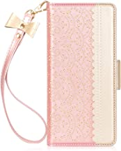 """WWW Samsung Note 20 Ultra Case 6.9"""", [Luxurious Romantic Carved Flower] Leather Wallet Case Cover with [Makeup Mirror] [Ki..."""