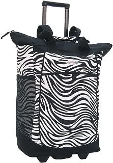 Fashion Rolling Shopper Tote - Zebra Black, 2300 cu. in.