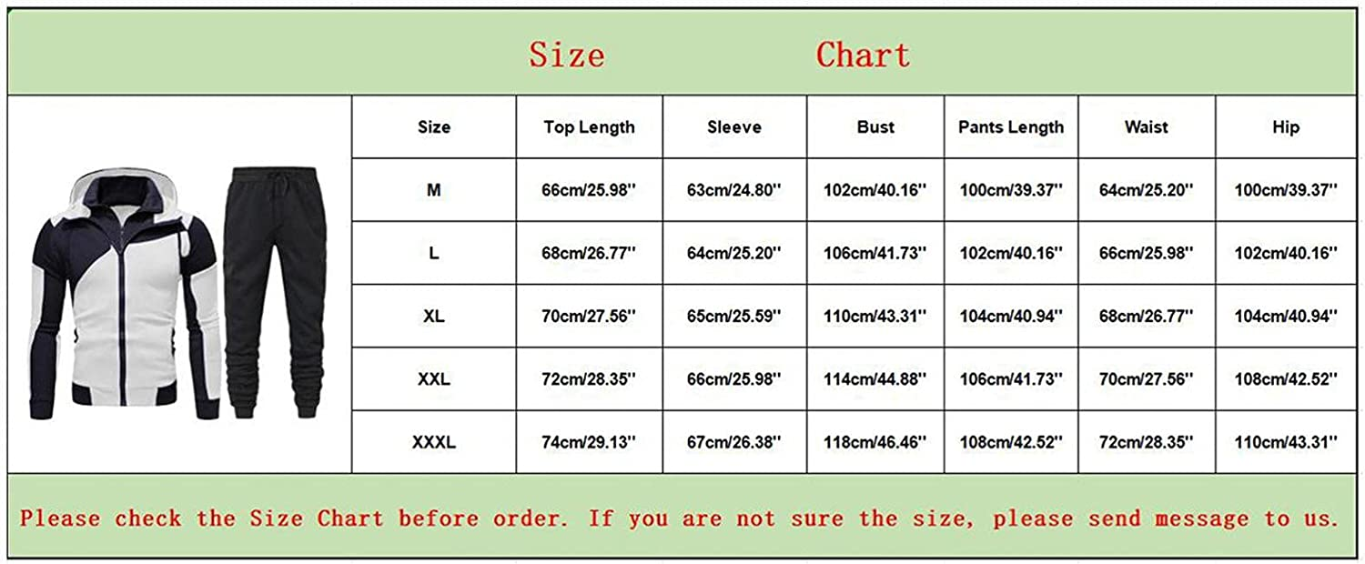 JSPOYOU Men's Athletic Tracksuit Sets Casual Long Sleeve Full Zip Hoodies Sportswear Big & Tall Running Jogging Sweatsuits