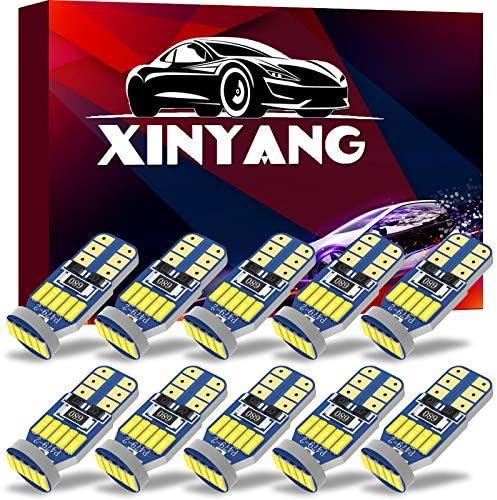 XINYANG 10Pcs 194 LED Car Bulbs Canbus No Error T10 168 LED Light Bulbs 15smd 4014 chipset 175 product image