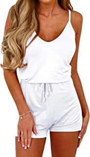 YOINS Rompers for Women Casual V Neck Long Sleeves Jumpsuits Playsuits Drawstring Waist Sexy Romper
