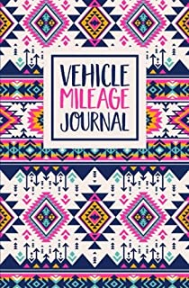 Vehicle Mileage Journal: Aztec Pattern Cover Design: Auto Mileage Log Book 1427