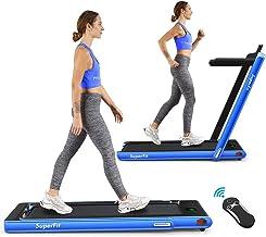 Goplus 2 in 1 Folding Treadmill, 2.25HP Under Desk Electric Treadmill, Installation-Free,..