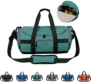 Sports Gym Bag with Shoes Compartment, Travel Duffle Bag for Men and Women,Green