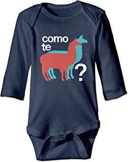 Fashion Baby Boys Girls Romper Bodysuit Como Te Llamas Infant Lpvely Jumpsuit Outfit Long Sleeves